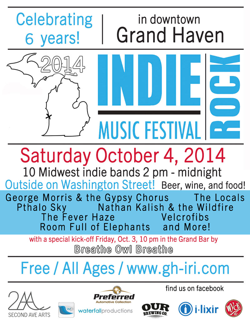 2014 Indie Rock Music Festival, Grand Haven, MI