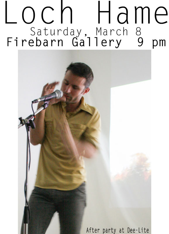Loch Hame at Fire Barn Gallery, March 8, 2014, Grand Haven, MI